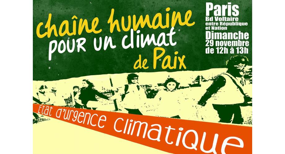 Chaine humaine pour un climat de paix